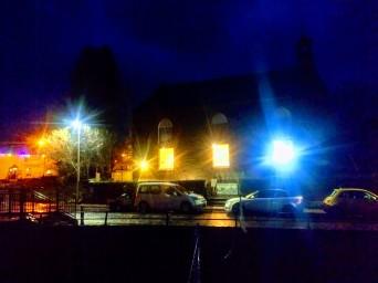 The Barony after dark